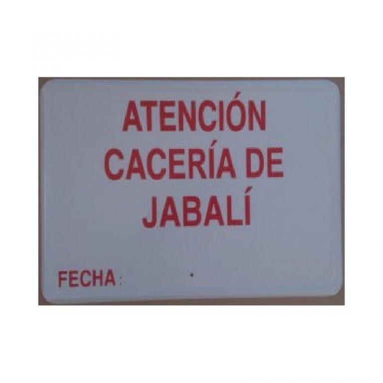 Tablilla Primer Orden Atención Cacería de Jabalí Fecha C Valenciana 1