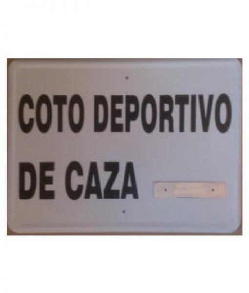 Tablilla Coto Deportivo Caza