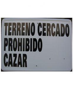 Tablilla Primer Orden Terreno Cercado Prohibido Cazar 1