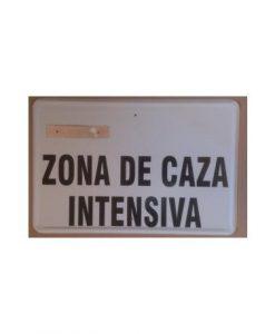 Tablilla Primer Orden Zona de Caza Intensiva C Valenciana