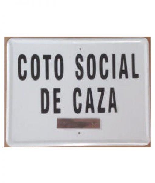 Tablilla Coto Social de Caza