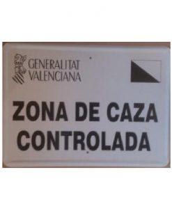Tablilla Zona de Caza Controlada