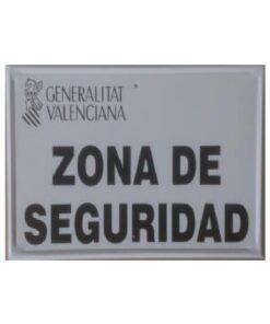 Tablilla de Primer Orden Zona de Seguridad c valenciana 1