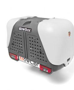 T2D000C TowBox V2 Gris Portaperros sobre bola de enganche