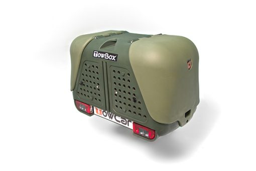 T2D000H TowBox Dog V2 Verde Portaperros sobre bola de enganche 2