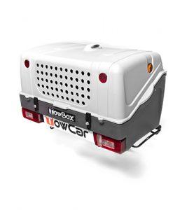 TBD0AAB TowBox V1 Dog Gris Portaperros sobre bola de enganche