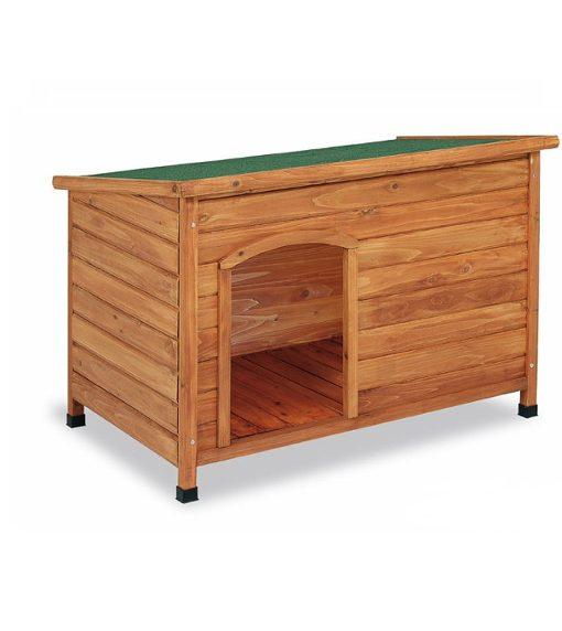 caseta madera techo plano