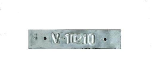 Placa Aluminio Grabada